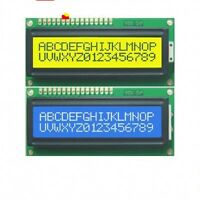 2pcs Blue + Yellow Backlight 1602 16x2 HD44780 Character LCD Display Module LCM