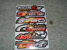 Decals / stickers R/C radio controlled Toyota Racing TRD Offroad 4x4  etc  G66