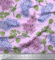 Soimoi Stoff Blätter & Lilie Blumen- Stoff Meterware - FL-851H
