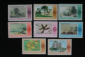 1976 TRINIDAD & TOBEGO - HOTELS/FLOWERS - PART SET - 8 VLAUES TO 5$