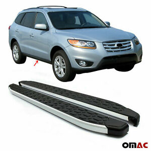 Side Steps Running Boards Alu. Nerf Bars Fits for Hyundai Santa Fe 2007-2012