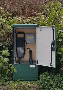 EV Charger Electric Vehicle & Car Wall Box Charging - Cover W400xH910xD320 Green