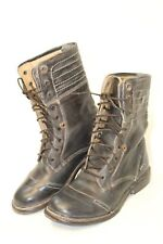Bed Stu Womens 8.5 Distressed Leather Bench Crafted Mid Calf Moto Boots ou