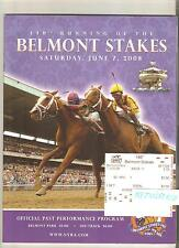 2008 BELMONT STAKES PROGRAM + $2 WIN TICKET BIG BROWN SECRETARIAT AFFIRMED MINT