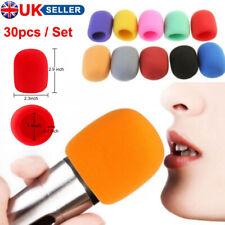 More details for 30pcs colourful microphone windscreen filter sponge foam wind shield mic cover