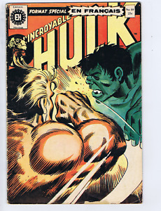 L'incroyable Hulk #40 Heritage FRENCH /CANADIAN 1st Appearance Wolverine! (B&W)