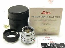 Leica 50mm f/2 Summicron M type IV lens silver chrome 11825 boxed MINT-