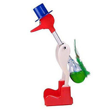 Easy Drinking Bird Dippy Lucky Happy Duck Bobbing Fun Toy Einstein Retro Glass