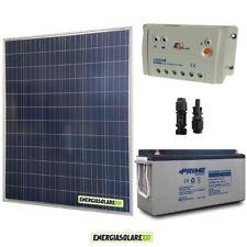 Kit placa solar 200W 12V Regulador de carga 20A EpSolar LS2024B bateria agm