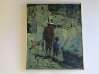 DON SHREVES  PAINTING EXPRESSIONISM 1950'S VILLAGE FISHING MEXICO SOUTH AMERICA