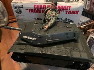 "Vintage Hasbro 1975 The Defenders Iron Knight Tank In Original Box 11.5"" GI Joe"