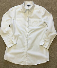 GORGEOUS WOMENS TOMMY HILFIGER WHITE CASUAL SLOUCHY SHIRT M MEDIUM COST £95