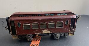 Lionel Early Prewar Standard Gauge 180 Pullman Rain Car Maroon
