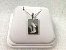 LAVAGGI STERLING SILVER PRAYING ANGEL SILHOUETTE NECKLACE PENDANT + Papers/box