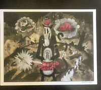 Hunger Pains 11x14 signed print By Frank Forte Pop Surrealism Betty Boop