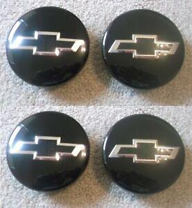 4 new Chevy Camaro Colorado Equinox Traverse wheel Center hub Cap 2016-18 Black