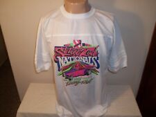 Vtg 1990 NSRA STREET ROD NATIONALS COLUMBUS OHIO RINGER T-SHIRT L/XL