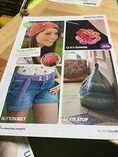 Quick, Easy Beret, Button Belt, Door Stop Knitting Pattern, Flower Crochet