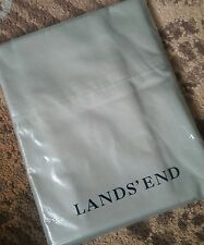 NEW  Lands End Pillowcases Soft Sateen Solid Sage Green KING Set of 2