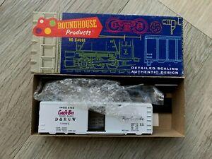 ROUNDHOUSE 1048 40' BOX CAR KIT – DENVER & RIO – D & RGW 60004-CPPKIE BOX-boxed