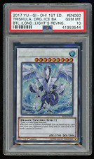 2017 YU-GI-Oh BLLR-EN060 Trishula,Dragon Ice Barrier 1st Ed.-PSA 10 GEM MINT 💎