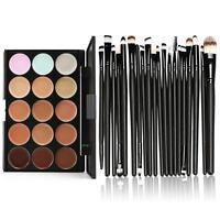 15 Colors Contour Face Cream Makeup Concealer Palette Professional+20 Brush Set