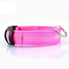 FARBIG LED Halsband / Hundehalsband / Leuchthalsband PINK GRÜN BLAU GELB ORANGE