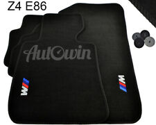 BMW Z4 Series E86 Black Floor Mats With /// M Emblem LHD With Clips NEW