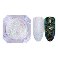 1g AB Color Nail Glitters Irregular Sequins Iridescent Flakes Powder Decoration