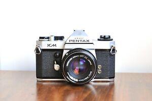 PENTAX KM    35mm SLR     w/ Pentax-M SMC  50mm Lens  -  Made in Japan , K1000
