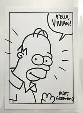 ORIGINAL MATT GROENING HOMER SIMPSON COMIC ART SKETCH! The Simpsons! Comic Art