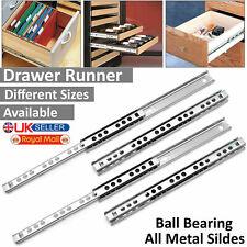 Pair Heavy Duty Fully Extension Ball Bearing Drawer Runners Slide Runner 17 27MM