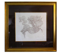 Guillaume Azoulay Etching Illustre Leaping Horse Signe Numbered Edition 100