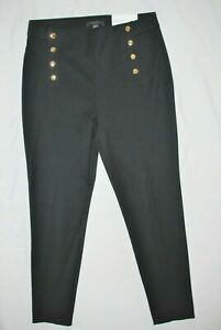 ANN TAYLOR BLACK  JEARSEY STRAIGHT SLIM LEG  NEW ANKLE  PANTS 10P