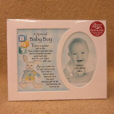 """A Special Baby Boy photo frame mount 10"""" x 8"""""""