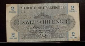 1944  AUSTRIA 2 Schilling    VF    AMC Allied Military Currency
