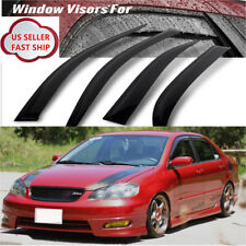 BLACK WINDOW VISOR VENT Guards FOR 2003 2004 2005 2006 2007 2008 TOYOTA COROLLA