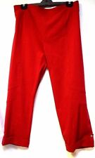 plus sz XL / 24 TS TAKING SHAPE Lulu 7/8 Red Pants stretch wide leg NWT! rp$110