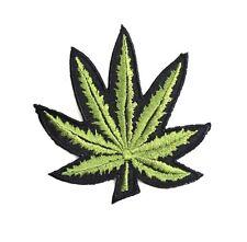 Pot leaf Embroidered Sew on Iron Patch Retro Boho Hippie DIY Craft