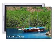 Marmaris Turkey Yacht Marine Boat - Souvenir Fridge Magnet