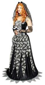 Hexe Hexen Kostüm Kleid Barock Vampir Gotic Rokoko schwarze Witwe Hexenkleid