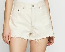 levis 501 cut off shorts Ladies Beige Tan Size W29 L30  *REF42