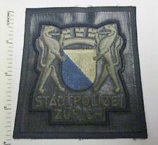 ZURICH SWITZERLAND STADT POLIZEI POLICE PATCH (Vinyl) Vintage Original SWISS