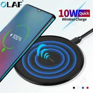 10w Wireless Charger Wireless fast Charging Pad Receiver For iPhone / Samsung