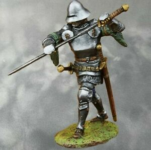 A German knight.  PAINTED. Tin Soldiers 54mm 1/32