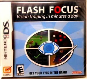 NINTENDO DS, FLASH FOCUS, VISION TRAINING IN A MINUTE A DAY, Brand New - Sealed