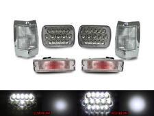 Full LED Hi+Low H6054 7x6 Headlight+ Clear Corner+Bumper For 90-97 Nissan Pickup