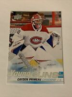 2019-20 Upper Deck Young Guns #454 Cayden Primeau YG RC