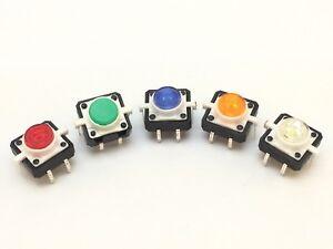 Mikrotaster mit LED   Taktile Kurzhubschalter, Taster