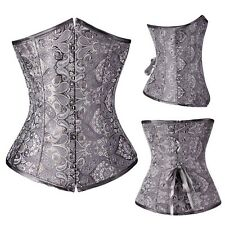 Underbust Corset Waist Trainer Cincher Control Body Shaper Slimming Black Plus